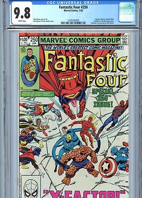 Fantastic Four #250 CGC 9.8 White Pages Byrne Cover & Art Marvel Comics 1983