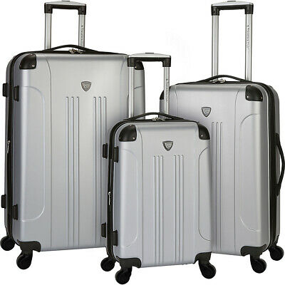 Travelers Club Luggage Chicago 3PC Original Hardside Luggage Set NEW