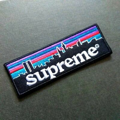 Supreme Patagonia NYC Embroidered Iron On Patch Custom Box Logo