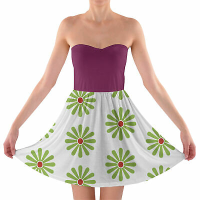 Haunted Mansion Tightrope Walker Sweetheart Strapless Skater Dress