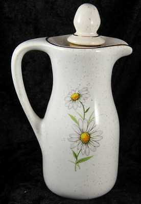Kernewek Daisy pattern china oil vinegar pourer 5 inches cornish collectable
