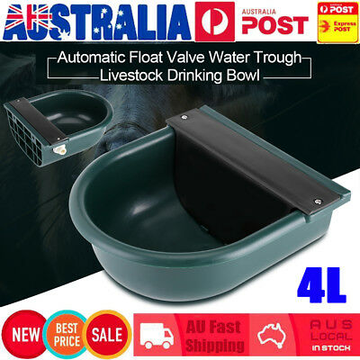 4L Automatic Float Valve Water Trough Bowl Stock Farm Horse Cow Dog Drink Auto