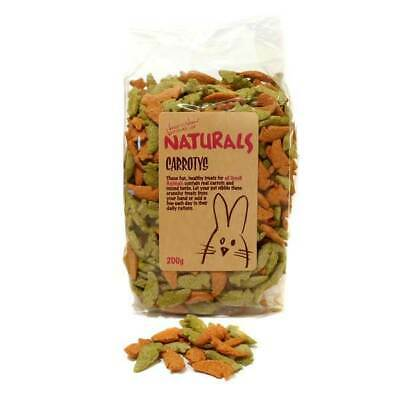 Rosewood Naturals 200g Carrotys Small pet Animals Organic Dry Food Treat