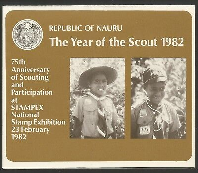 NAURU 1982 YEAR OF THE SCOUT MS, STAMP PACK, S.G No 262 MS, MNH**