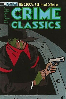 Crime Classics #8 May 1989 - The Shadow Created By Walter Gibson Vernon Greene
