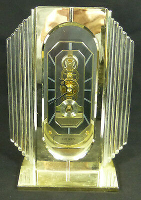 Art Deco Citizen Glass Clock