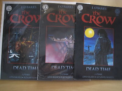 """The CROW : """"DEAD TIME"""" : COMPLETE 3 ISSUE SERIES by WAGNER & MALEEV. KS. 1996"""