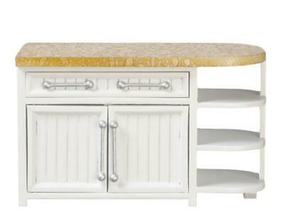 Melody Jane Dolls House Apex End Cabinet Unit Island White Kitchen Furniture
