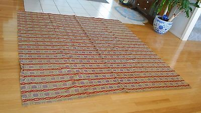 Large Victorian Throw Spread Quilt Coverlet 1800's Beautiful unusual colors  aei