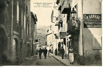 Carte Postale / Ardeche Pittoresque / Privas Rue De La Republique