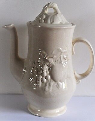 Royal Worcester Crown Ware White Coffee Pot 24cm High