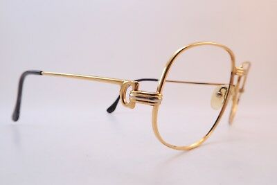 Vintage 24K gold filled ROMANCE eyeglasses frames Cartier Paris 58-18 135 France