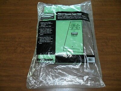 Rubbermaid 9VUL12 Replacement Vacuum Bag 10 Paper Filter Bags Commercial