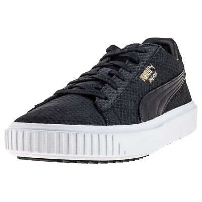 Puma Breaker Mens Black Suede   Leather Casual Trainers Lace-up Genuine  Shoes e9401bd7c