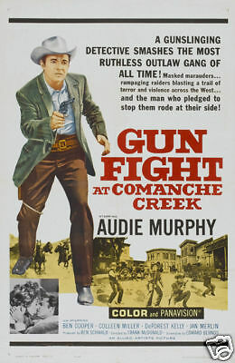 Gunfight at Comanche Creek Audie Murphy movie poster print 1