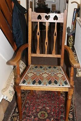 A lovely Art Nouveau oak chair.