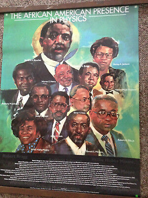 """The African American Presence in Physics 24"""" x 18"""" Poster"""