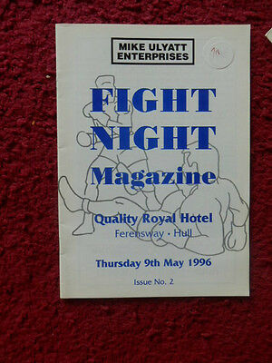Boxing Programme - Peter Waudby V Craig Winter 1996