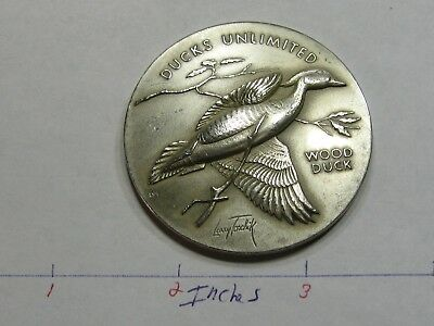 2.7 Oz Wood Duck Unlimited Medallic Art High Relief Very Rare 999 Silver Coin