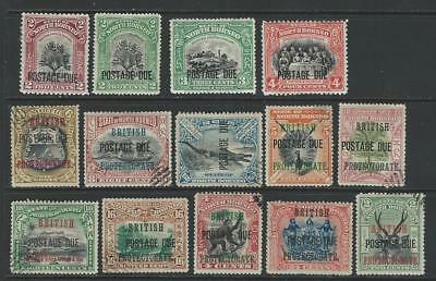 North Borneo - Mm & Fu Postage Due Selection - Unchecked