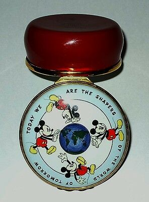 Halcyon Days Enamel Box -Mickey Mouse- Shapers Of The World Of Tomorrow - Disney