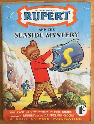 RUPERT Adventure Series No 26 Seaside Mystery August 1955 V. FINE Ex-Shop Stock