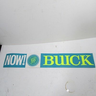 Vintage 1966 Buick Dealership advertising Sign Sticker Unusual Car Old