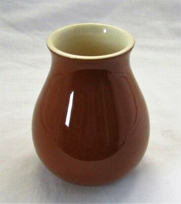 Australian Pottery - Signed Martin Boyd - Small Brown Vase