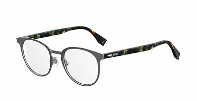 7064f0d2f5e AUTHENTIC FENDI MEN Ff M 0009 0R81 Matte Ruthenium Eyeglasses ...