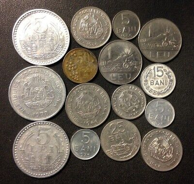 Old Romania Coin Lot - 1960-PRESENT - 15 Less Common Coins - Lot #F13