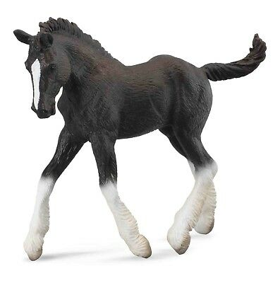 Breyer CollectA 88583 Shire horse Foal black  -  exceptional miniature  <><