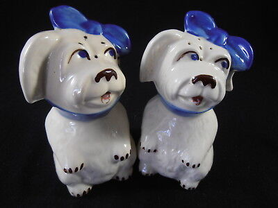 """Shawnee Muggsy Toothache Puppy Dog Large Salt & Pepper Shakers 5 ¼"""" Tall"""