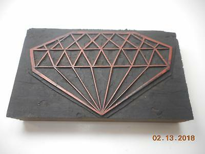 Printing Letterpress Printers Block, Big Diamond Antique, Printers Cut