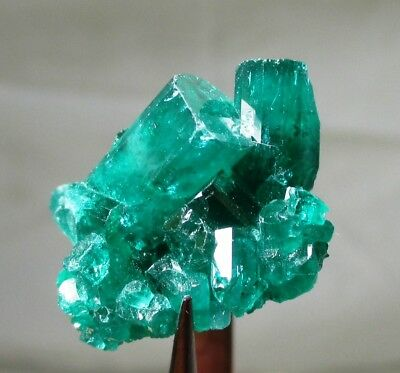 26.4 ct Chatham emerald cluster - lab grown actual emerald cluster