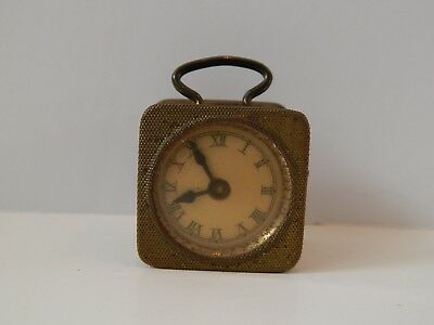 Antique Celluloid & Brass Figural Clock Tape Measure Germany