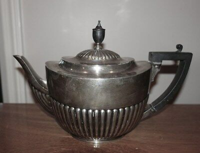 Rare! Antique Heavy Sterling Silver Teapot W/hinged Cover – English Hallmarks