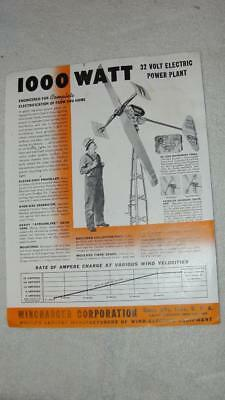 Vintage Wincharger Corp. Advertising Sales Brochure 8.5 x 11 Giant Model (A)