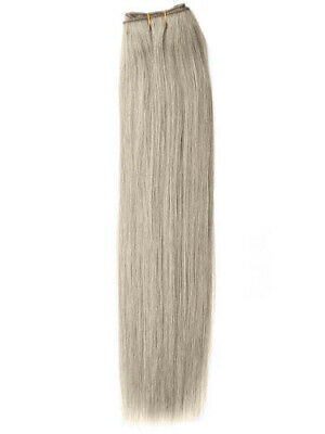 DOUBLE WEFT Silver Human Hair Extension Weft Full Head