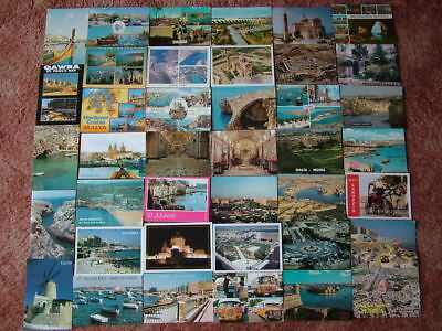 40 Postcards of MALTA & GOZO.  Used and Unused. 1970's onwards.