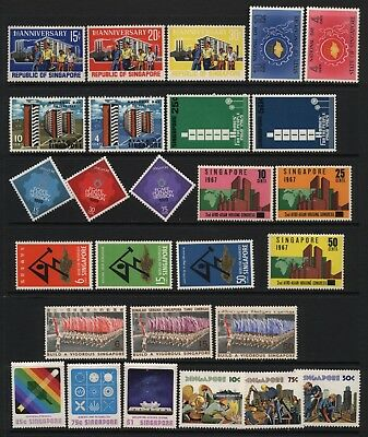 Singapore Collection Modern Commemorative Stamps Mounted Mint