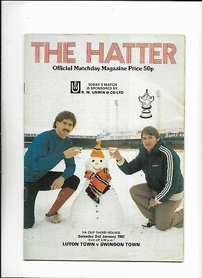 Luton Town V Swindon Town 2/01/1982 Fa Cup 3Rd Round  (5)