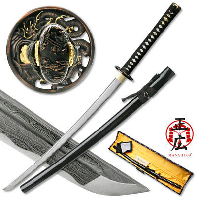 Masahiro Ancient Warrior Folded  Damascus Blade Katana MAZ-401/GA3