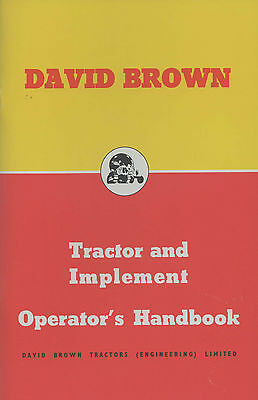 David Brown 25D 30D Tractor And Implement Operators Handbook **offer**