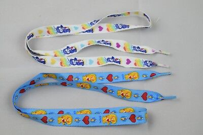 "Hot Topic Care Bear Wholesale Lot Of 200 Pair Blue & White 36"" Shoelaces Bulk"