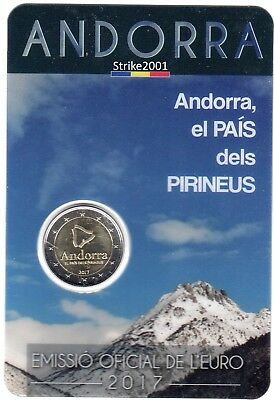 NEW !!! Coin Card 2 EURO COMMEMORATIVO ANDORRA 2017 Il Paese dei Pirenei NEW !!!