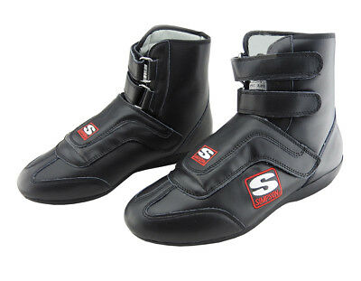 Simpson Stealth Sprint Leather Race Boots, SFI Approved, Oval/Drag, UK 8 - UK13