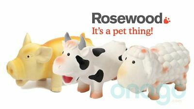 Rosewood Dog Toys The Grunters Pig Sheep Cow Latex Squeak Dog Toy