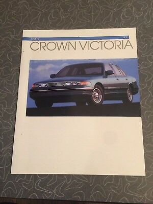 1993 Ford Crown Victoria Car Auto Dealership Advertising Brochure