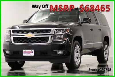 2018 Chevrolet Suburban MSRP$68465 4X4 LT DVD Sunroof Leather GPS Black 4WD