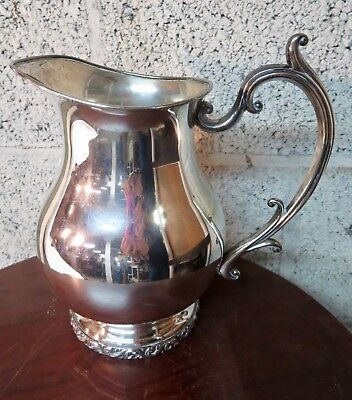 Antique National Silver on Copper Water Pitcher~Shabby Chic C2
